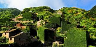 villaggio cinese abbandona