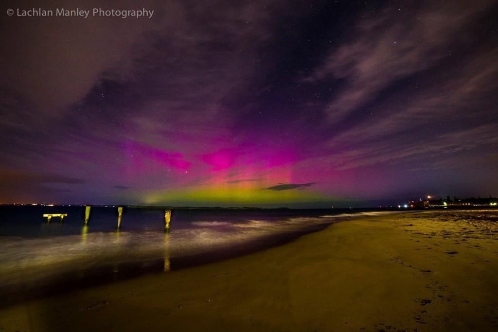 Aurora australe sui cieli di Melbourne