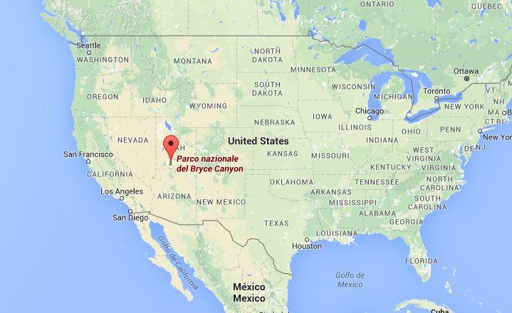 Mappa Bryce Canyon