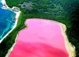 Lago rosa in Australia