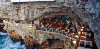 Ristorante in grotta sul mare