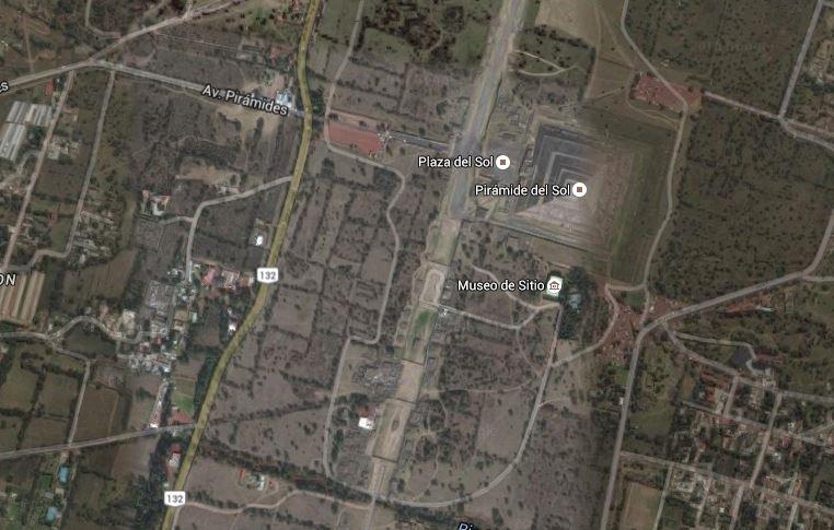 Foto aerea di Teotihuacan