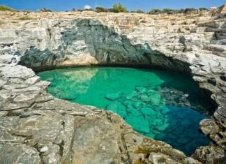 La piscina di Giola a Thassos