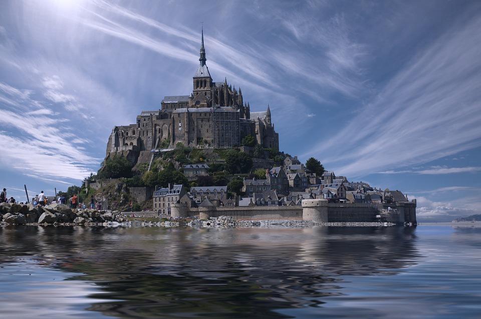 Alta marea a Mont Saint-Michel