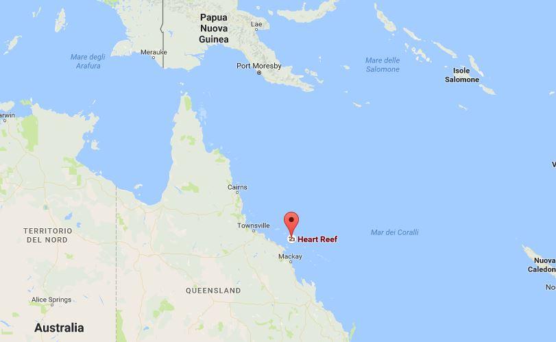 Collocazione di Heart Reef