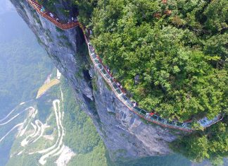Passerella Spirale del drago, in Cina