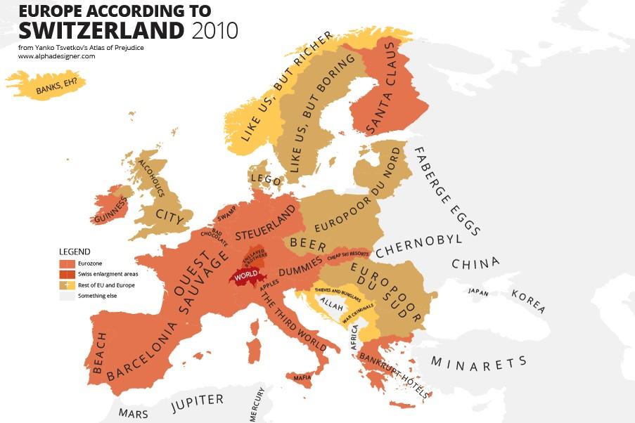 Come la Svizzera vede l'Europa