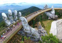 Il ponte che si appoggia su due mani, in vietnam