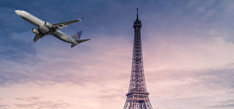 Raggiungere Parigi in aereo